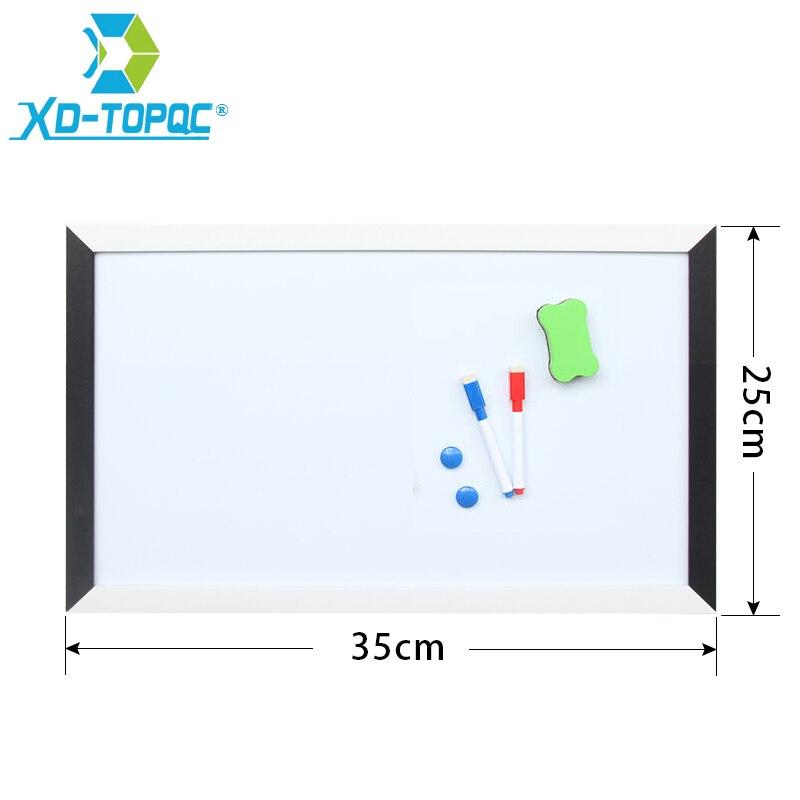 XINDI 25*35 cm Lavagna MDF Black & White Frame Magnetico Bianco bordo Per Le Note Nuovo Disegno Tavole Secco Cancellare Notice Board WB07