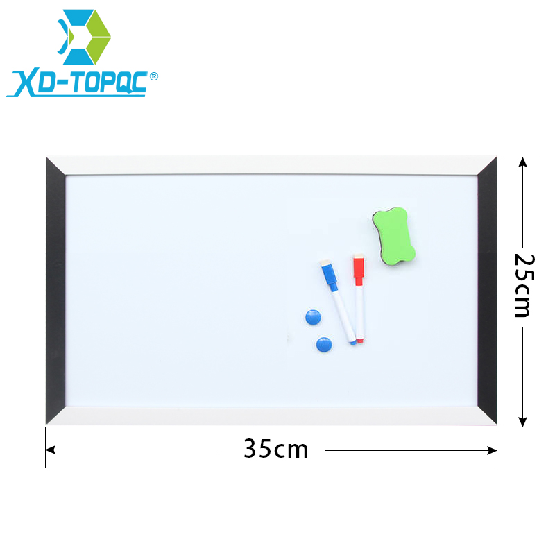 XINDI 25*35cm Whiteboard MDF Black & White Frame Magnetic White Board For Notes New Drawing Boards Dry Erase Notice Board WB07 zhidian 32 24soft magnetic whiteboard dry erase board white wall back without glue don t damage metope t 0 3mm