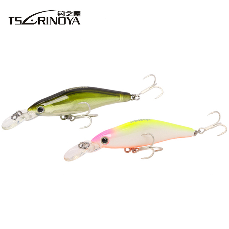 Tsurinoya DW41 65mm/6g  0.8-1.2m Depth Minnow Fishing Lure 3D Simulated Fishing Eyes Magnet Centrifugal Hard Plastic Lure Bait