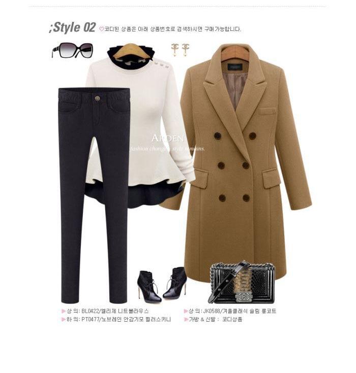 Autumn Winter Coat Women 19 Casual Wool Solid Jackets Blazers Female Elegant Double Breasted Long Coat Ladies Plus Size 5XL 9