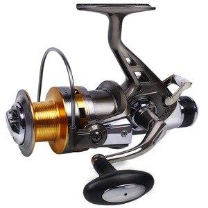 Image 5 - Sougayilang Рыболовная катушка для карпа, металлическая катушка с ЧПУ, двойной тормоз, спиннинговая Рыболовная катушка, колесо для Пресноводной и морской рыбалки для путешествий
