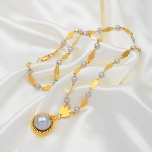 Image 5 - Anniyo Marshall Pearl Pendant Ball Beads Necklaces Jewelry Set Women Gold Color Guam Micronesia Jewelry Hawaii Gift #164606