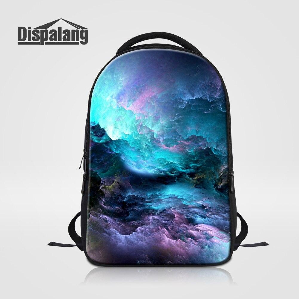 Dispalang Men Laptop Backpack Notebook Computer Bag For College Students Universe Space Children School Bag Bookbag
