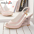 Mujeres sandalias de tacón alto dama de la moda vestido marca sexy zapatos de cuña de charol venta Caliente tamaño 34-39