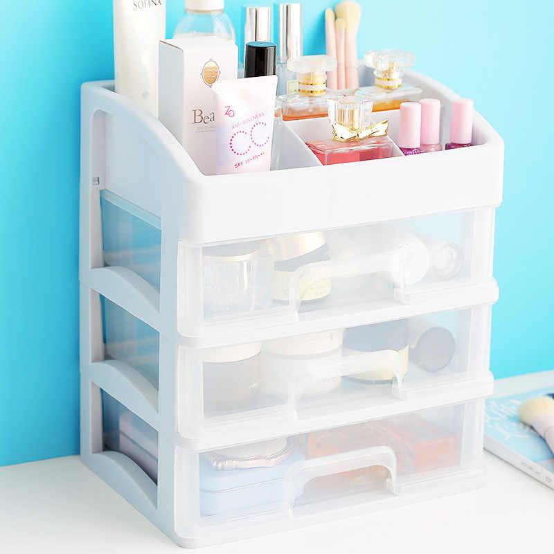 Makeup Organizer ลิ้นชักเครื่องสำอางค์พลาสติกกล่องเครื่องประดับ Make Up แต่งหน้าแปรงผู้ถือ Organizer H1187