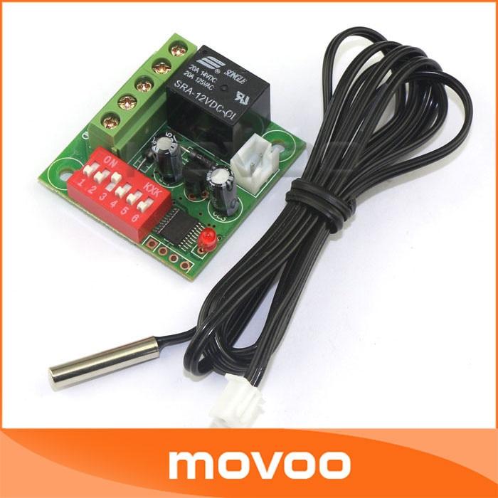2Pcs Heat Cool Thermostat Digital Temperature Control Switch 20-90℃ 12V yo