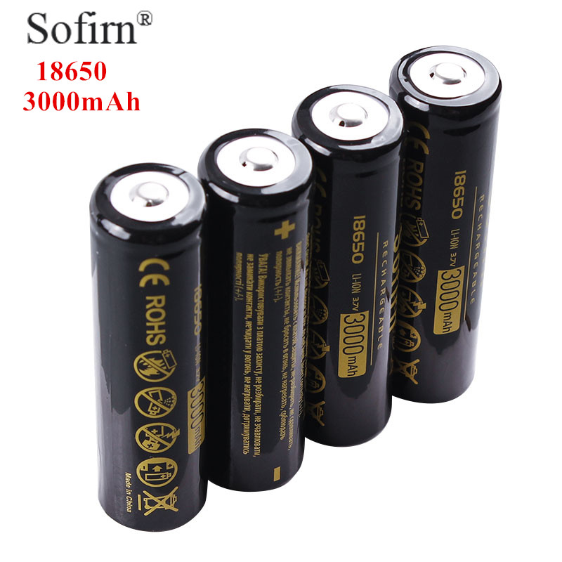Sofirn 18650 Battery 3.7V 3000mAh Li-ion Rechargeable Batteries Cell Torch Flashlight with Stable Storage Boxes стоимость