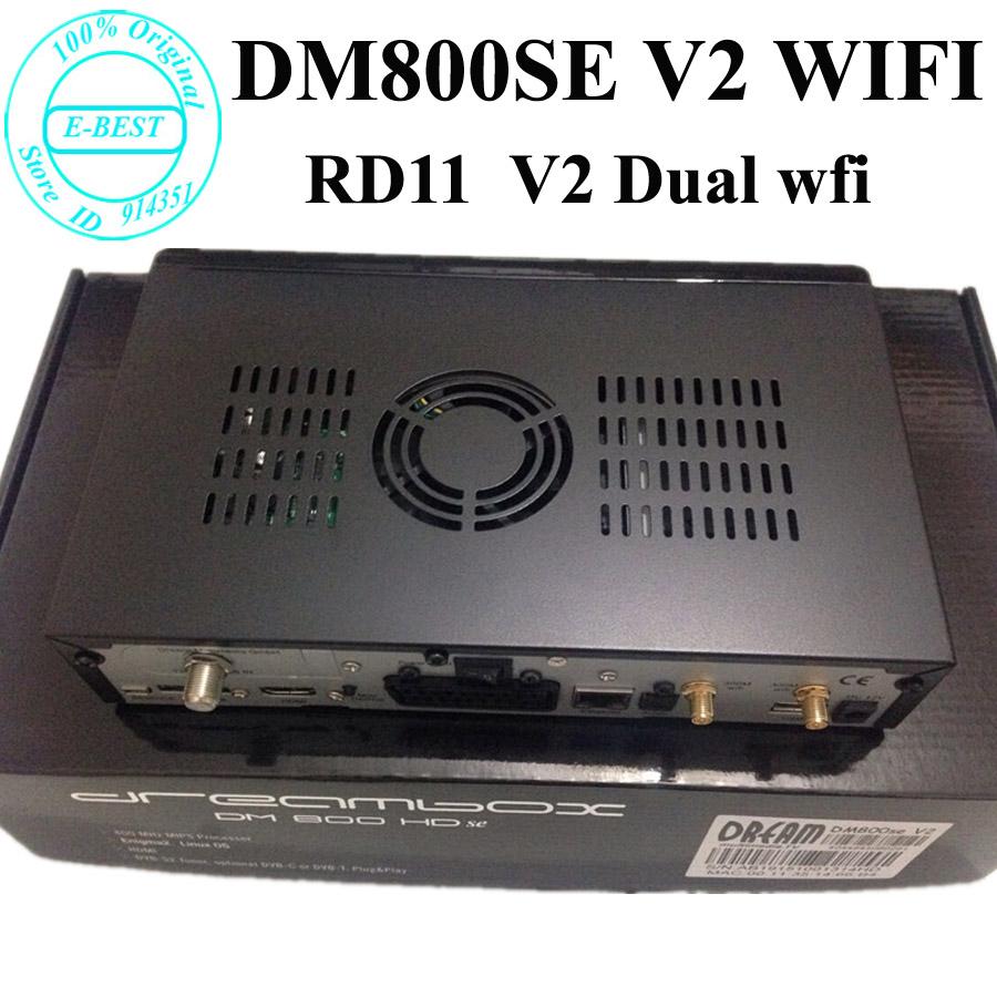 Prix pour 2016 Date Modèle dm800se v2 double wifi dm 800 hd se 1 GB Flash 512 MB RAM Sim2.20 DM800se V2 Wifi 400 Mhz DHL Livraison gratuite