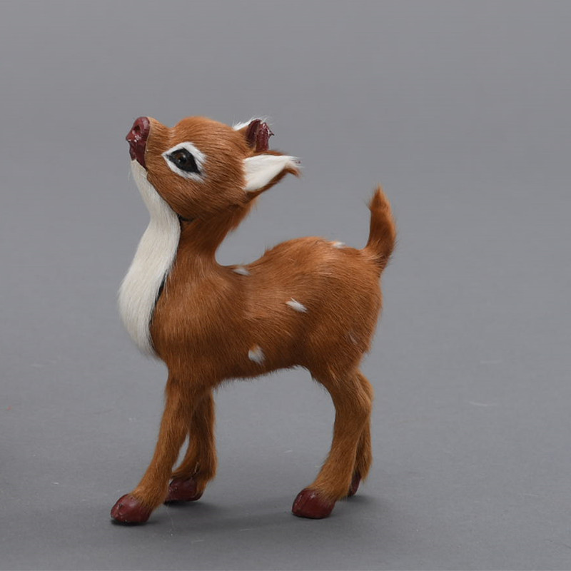 christmas deer decor lovely simuylated deer ideal as children gifts or christmas gift in figurines miniatures from home garden on aliexpresscom