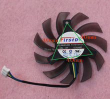 FD7010H12S 75 mét Video Card Cooler Fan Thay Thế 40 mét 12 V 0.35A 4 Wire 4Pin cho ASUS GTX560 GTX660 HD7770 HD7790 HD7850(China)