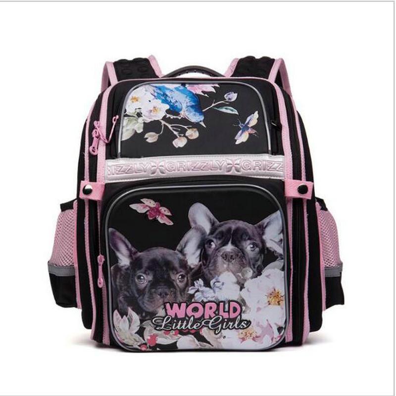 Cartoon Cat Dog Waterproof Nylon Orthopedic Backpack Children School Bags For Teenager Girls Book Bag School
