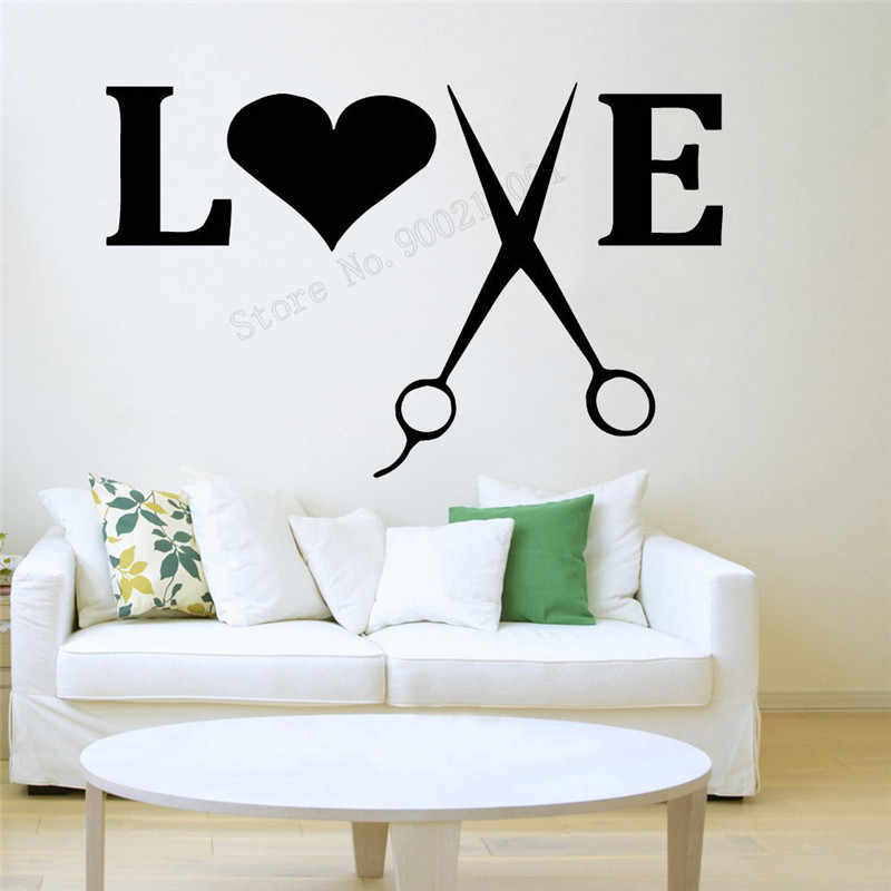 4f5e52f5635 Detail Feedback Questions about Art Wall Sticker Love Haircut Wall ...