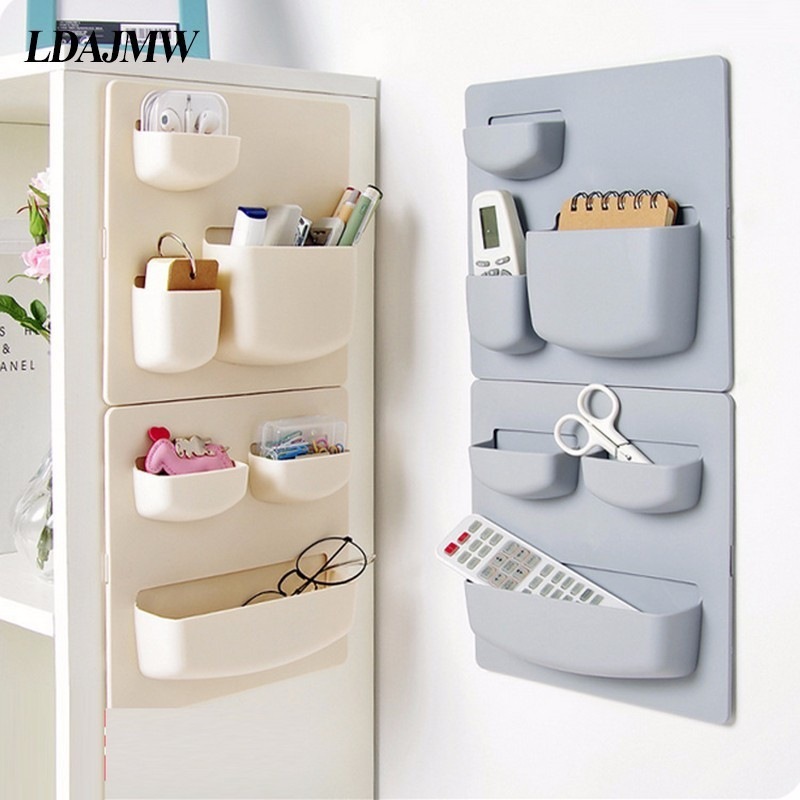 US $7.67 50% OFF|Combination Household Adhesive Bathroom Wall Storage Rack  Free Punching Wall Hanging Rack Kitchen Supplies Finishing Organizer-in ...
