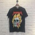 Funny T-Shirts Top Tees Cool Skate Rapper Vintage Masculinas Camisetas Hombre Hip Hop Fitness 3D Skull METALLICA Printed Pattern