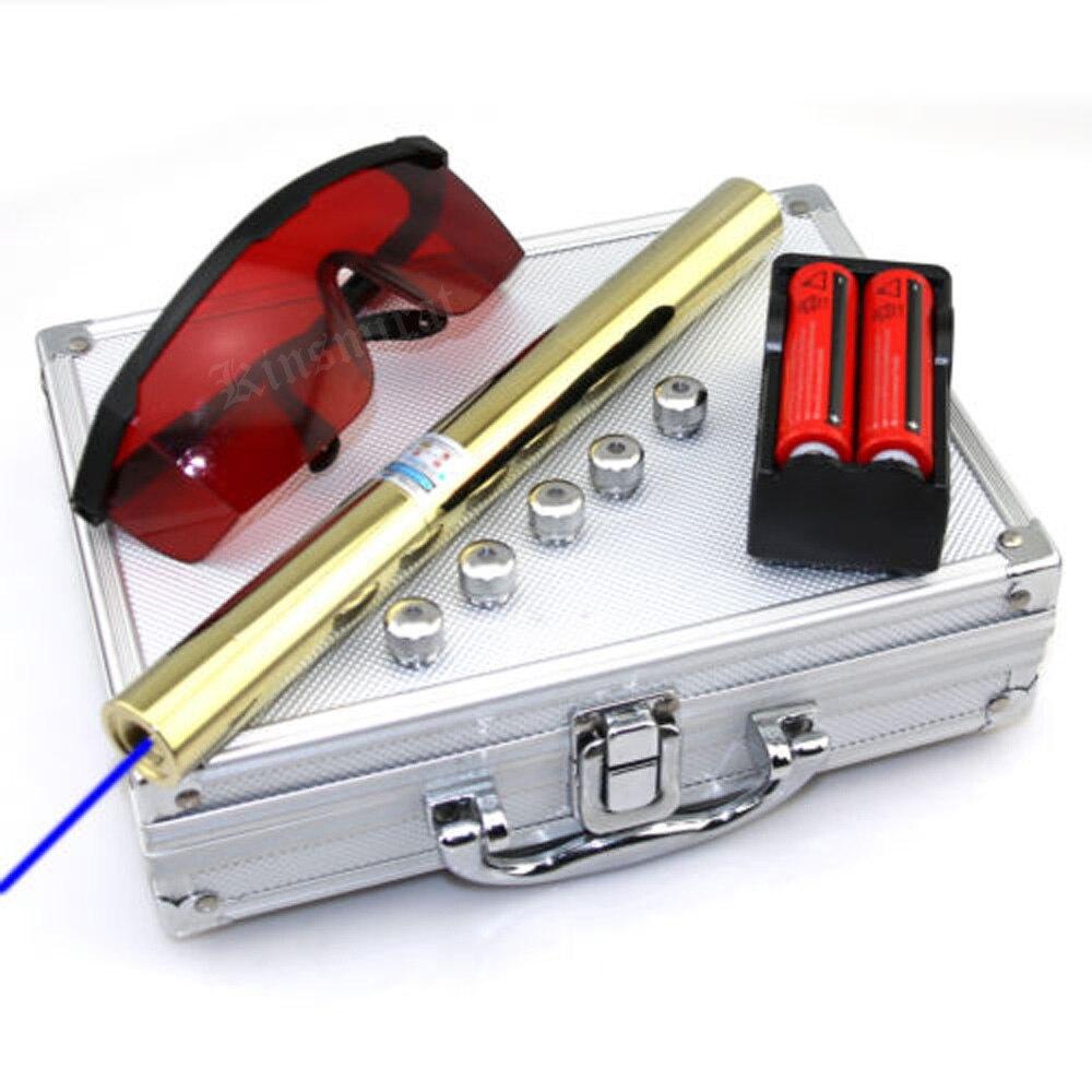 Haute puissance tous cuivre Plus Puissant Bleu Laser sight Pointeur 450nm1000m Focalisables brûler l'allumette bougie cigarette allumée