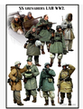 Free Shipping 1/35 Scale Resin Figure  WWII SS Grenadiers LAH German In Winter
