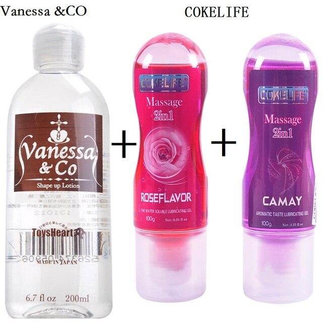 Vanessa & CO Японии личные смазочного масла Интимная смазка анального секса ароматный вкус смазки гель для вагины интимные секс товары 3 шт.