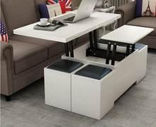 Folding erhöhung tisch und tisch. waage multifunktionale lagerung tee tisch mit stühlen