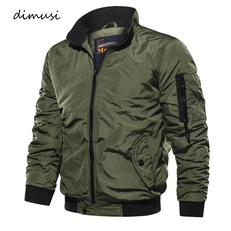 DIMUSI Mens Bomber Jackets Autumn Winter Men Casual Slim Military Coats Fashion Mens Sportswear Windbreaker Jackets Clothing 5XL
