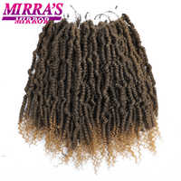 "Miroir Mirra 14 ""12 brins ressort torsades tresses Ombre tressage cheveux synthétique bombe torsions Crochet Extensions de cheveux"