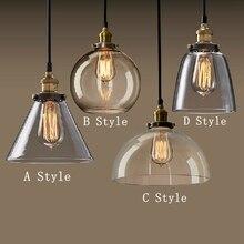 Modern Fashion American Industrial Vintage Creative Retro Loft Pendant Light Glass Bedside Aisle Restaurant Lamp Free Shipping