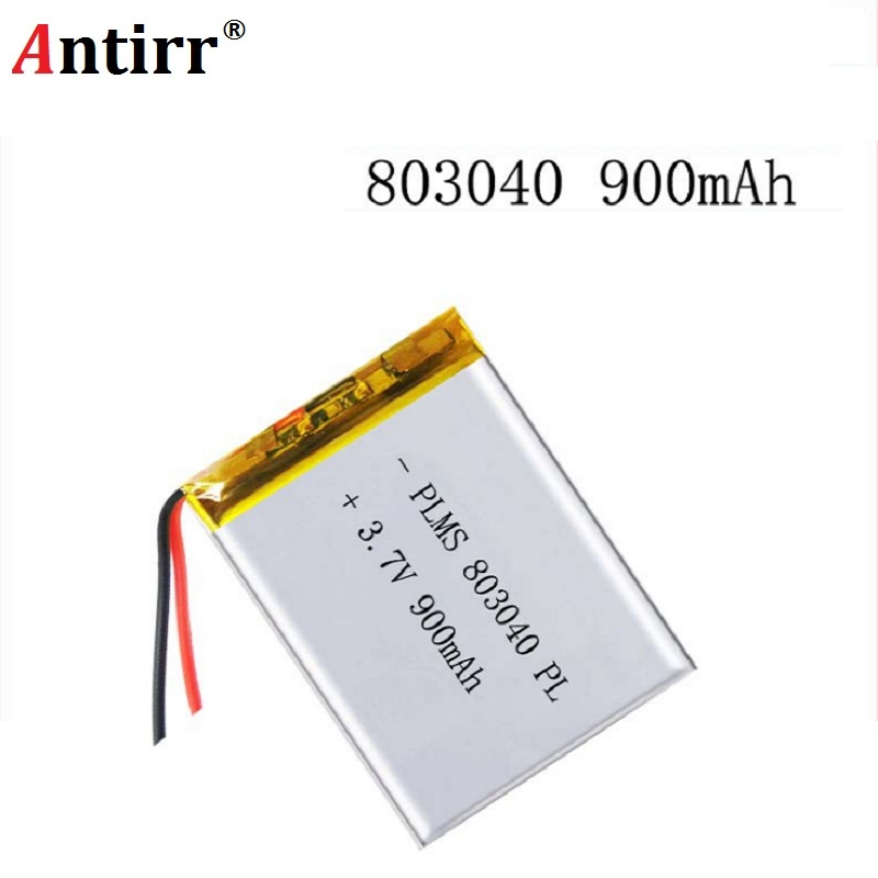 3.7V 900mAh 803040 Lithium Polymer Li-Po Ion Rechargeable Battery For Mp3 MP4 MP5 GPS PSP Mobile Pocket PC E-books Bluetooth