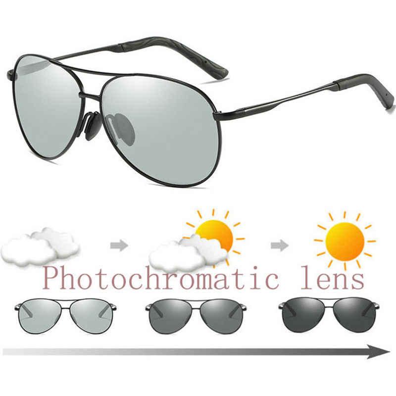Kính Mát AORON Photochromic Phân Cực Hợp Kim Kính Mát Nam Nữ Thương Hiệu Thiết Kế Kính Mắt Chống Chói UV400 Kính Thời Trang HD Kính