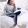 Fashion Striped Summer Stripe Leggings,Comfortable Elastic Stretch Cotton Legging,Women Tracksuits Slimming Pants,Skinny Leggins