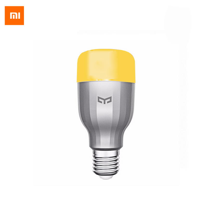 Galleria fotografica Original <font><b>Xiaomi</b></font> <font><b>Mi</b></font> Night Yeelight Smart LED Lamp Wifi Remote Control RGB Light E27 Colorful Smart Home illumination LED Bulb