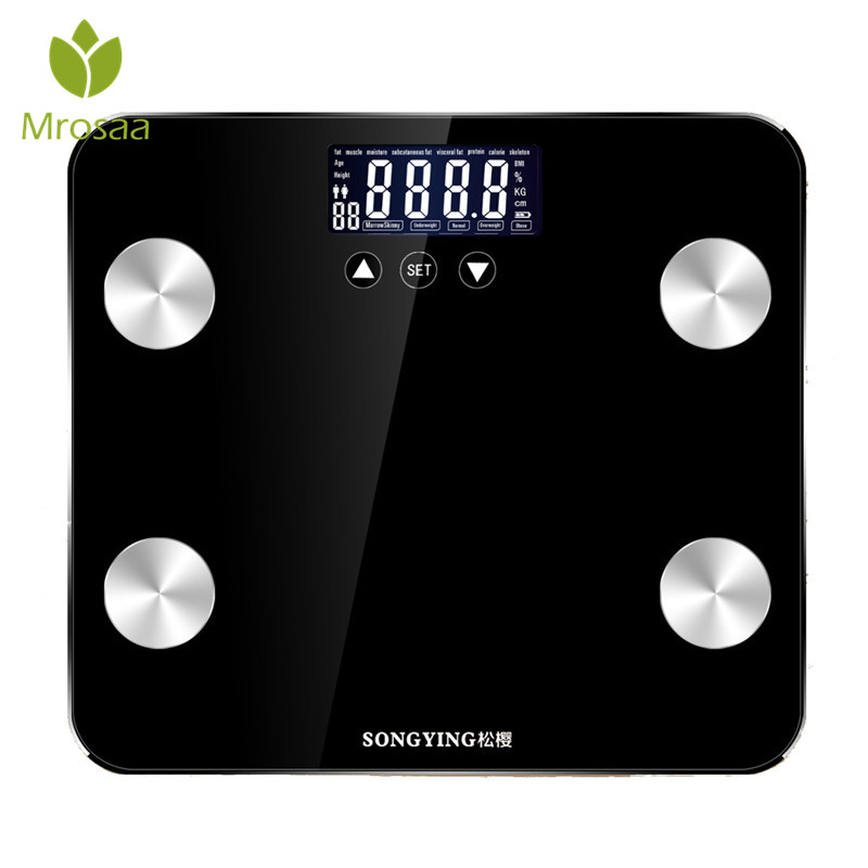 Body Scale Floor Smart Electronic Digital Scale Home Weight Measure Health Balance Glass LCD Display Bathroom Scales 180KG/400lb