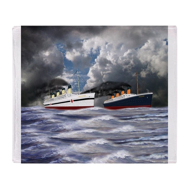 Personalized Titanic And Britannic Soft Fleece Throw Blanket Cover