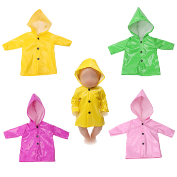 43 cm baby dolls Clothes new born waterproof raincoat Baby toys casual Dress accessories fit American 18 inch Girls doll f539 baby born doll clothes toys white polka dots dress fit 18 inches baby born 43 cm doll accessories gc18 36