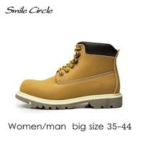 Big Size Plus Size 2017 Autumn Winter Shoes Women Ankle Boots Genuine Leather Boots Women S