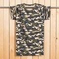 Más del tamaño L-6XL 130 KG Hombres Maxi camisetas de manga Corta Camuflaje militar Ocasional Camisetas para Los Hombres de Moda Camiseta de Algodón Suave MQ427