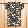 Plus size L-6XL 130 KG Homens Maxi t camisas de manga Curta Camuflagem militar Ocasional T para Homens Moda T-shirt de Algodão Macio MQ427