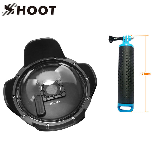 NEW SHOOT 6 inch GoPro Dome Port with Extra LCD Screen Clip Lens Hood for GoPro Hero 3+/4 2.5 Version Camera Photo Accessories