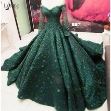 Lisong Muslim Dark Wedding Dress 2019 Full Sleeves Empire