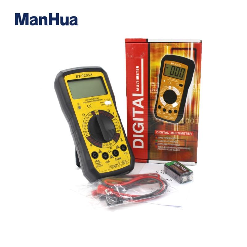 DT-9205A Digital Multimeter Voltmeter Ammeter OHM Volt Tester AC/DC LCD Test Current Meter Overload