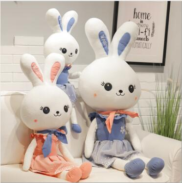 WYZHY New creative cute princess rabbit plush toy long ears rabbit doll doll pillow children gift 100CM in Stuffed Plush Animals from Toys Hobbies