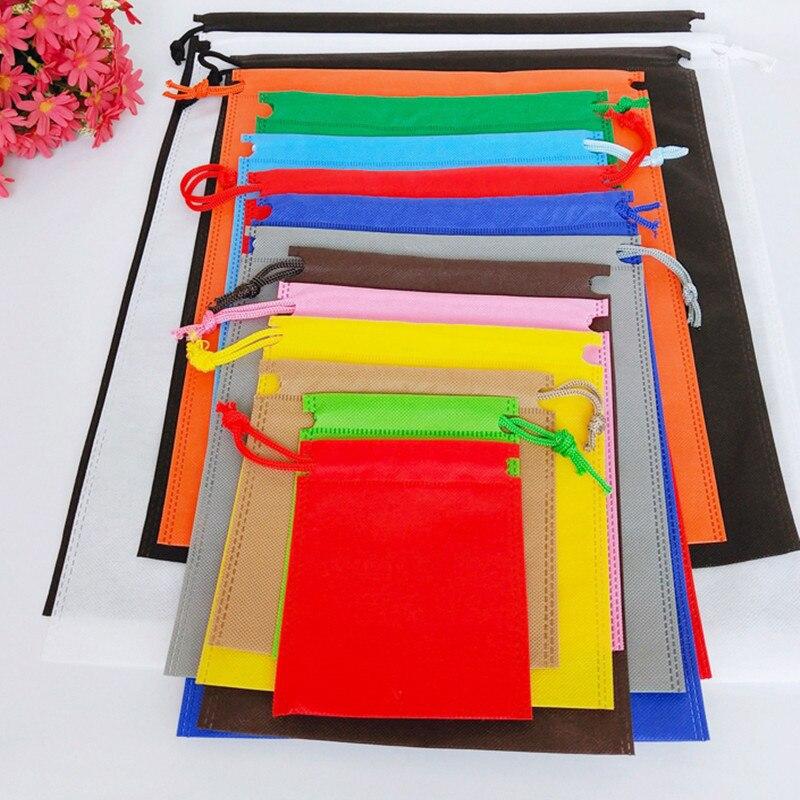 Colors Small Size  70gsm Non Woven Fabric Eco Drawstring String Bag  Reusable Shopping Folding Environmental Bag