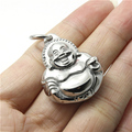 2015 New Arrival Buddha 316L Stainless Steel Cool Fashion Double Face Happy Solid Buddha Pendant