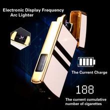 Электронный Дисплей частоты USB Arc плазменная Зажигалка Перезаряжаемые ветрозащитный высокого класса нет газа зарядки прикуривателя