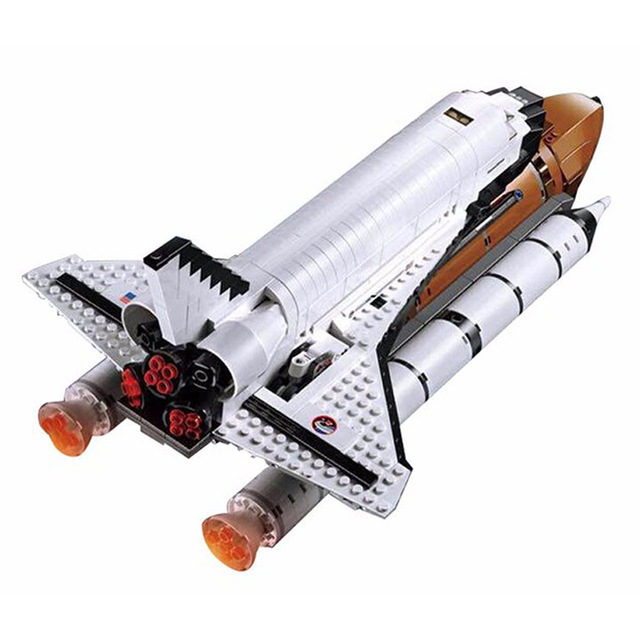 2018 New 1230Pcs Space Shuttle Expedition Model Building Kits Blocks Bricks Compatible Standard brick size Toys For Gift 10231 lepin 16014 1230pcs space shuttle expedition model building kits set blocks bricks compatible with lego gift kid children toy