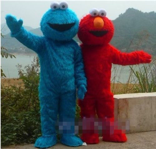 2017 High quality Adult elmo mascot costumes for sale Halloween Outfit Fancy Dress Suit elmo adult clothes Free Shippingt