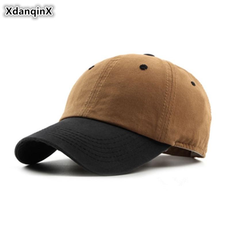 XdanqinX Unisex Adjustable Size Cotton Baseball Caps For Adult Men Women Ventilation Fashion Snapback Bone Couple Hat Dad's Cap