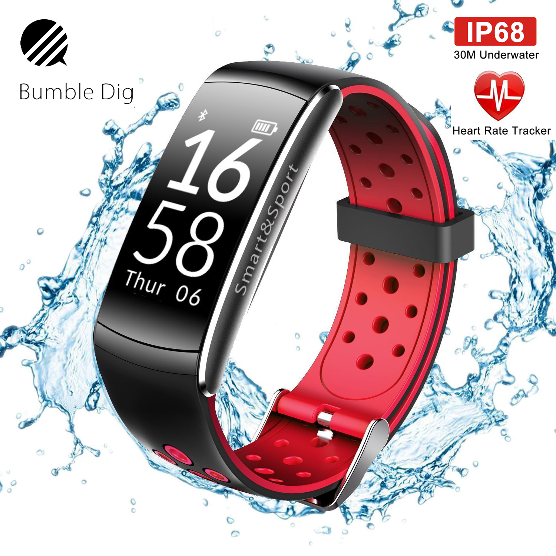 Intelligente Elektronik 100% Wahr Smart-armband Heart Rate Monitor Ip68 Wasserdichte Smart Armband Blutdruck Bluetooth Für Android Ios Frauen Männer Angenehm Bis Zum Gaumen