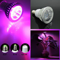 Full spectrum LED Grow lights 6W E27 GU10 E14 LED Grow Lamp Bulb Flower Plant Hydroponics System AC85V 110V 265V Growing Box