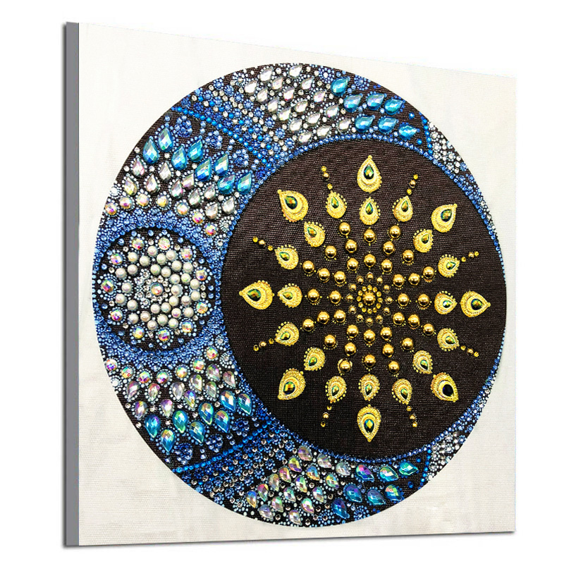 RUBOS DIY 5D Diamond Embroidery Mandala Sun Triptych Diamond Painting Multi Picture Rhinestones Pearl Big Mosaic Sale Wall Decor (21)