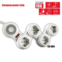 Creative Rotary power socket splitter european power strip extension with switch