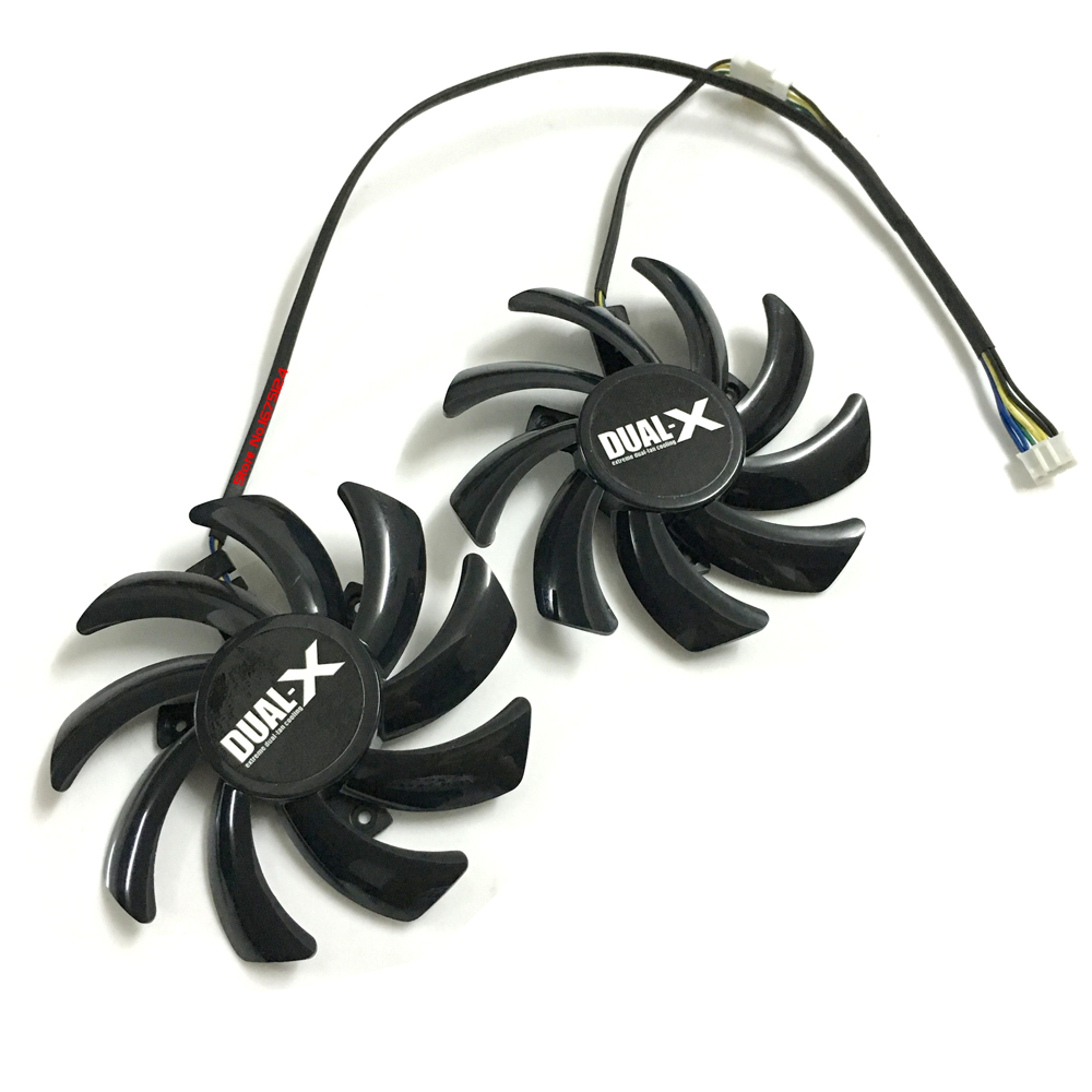 2pcs/lot FDC10H12S9-C 85mm Sapphire HD6850 HD6970 HD7870 2G HD7950 HD7970 Graphics Cooler VGA Card Cooling Fan